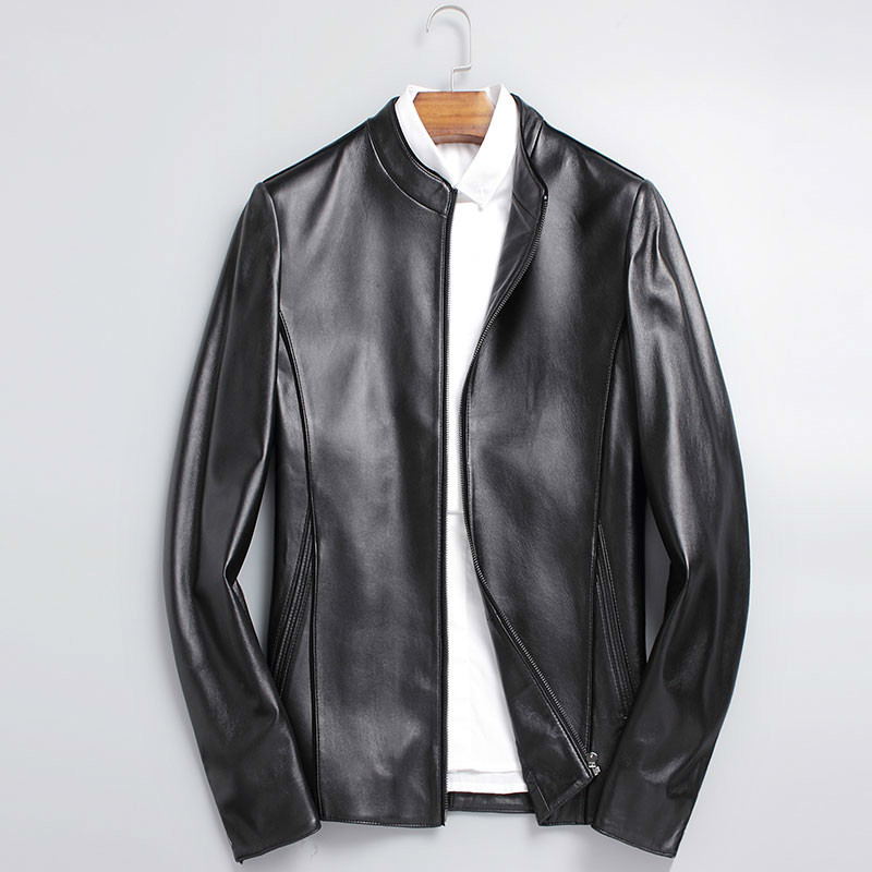 Korean Genuine Jacket Men Clothes 2020 Short Sheepskin Coat Slim Fit Motorcycle Leather Jackets ZDY0012 KJ2228