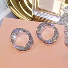 European and American Geometric Circle Earrings Female Temperament Korea Simple Fashion