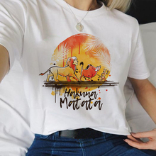 Hakuna Matata Kawaii Cartoon Harajuku T Shirts Women Lion King Ullzang Funny T-shirt 90s Graphic Tsh