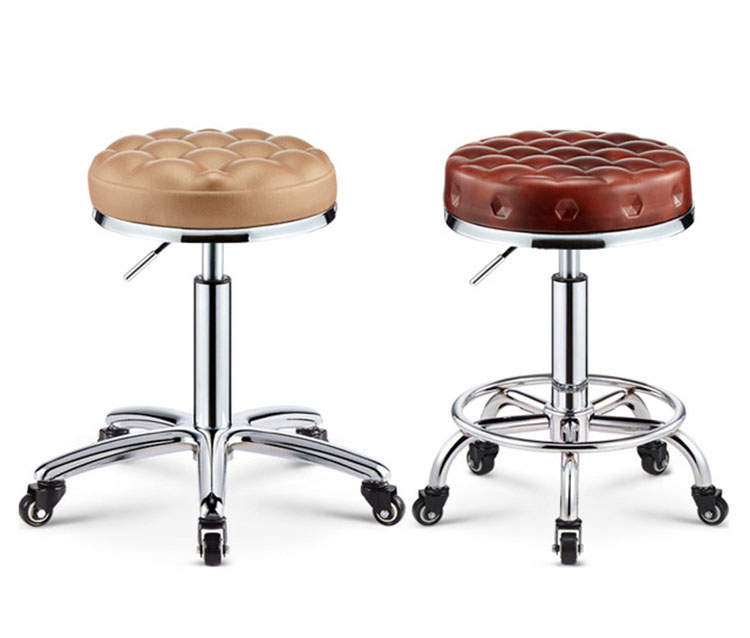 Rolling Swivel Salon Stool Chair Tattoo Massage Facial Spa Height Adjustable Chair Beauty Salon Chairs Bar Stool Barber Chair