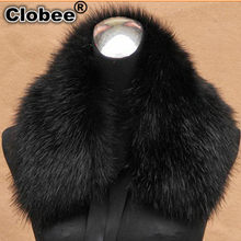 2020 Office Women Winter Good Quality Furry Gothic Furry Charming Fox Fur Collar Female Luxury Scarves Fur Ring V622(China)