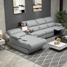 CBMMART современный американский стиль из натуральной кожи откидной диван мебель