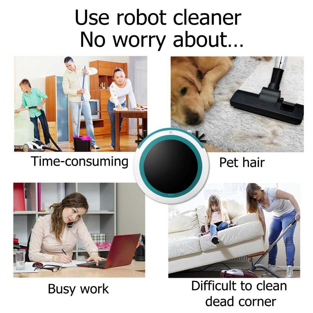 Automatic Smart Robot Vacuum Cleaner with Powerful Suction and Anticollision Property for Home Cleaning