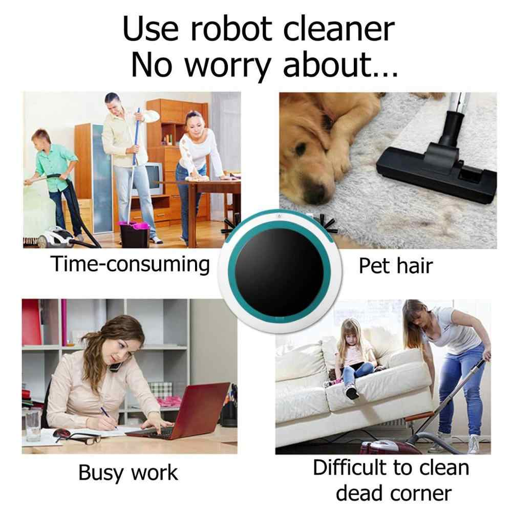 Otomatis Smart Robot Vacuum Cleaner Mengepel Menyapu Suction Cordless Auto Debu Sweeper Mesin Anti Tabrakan untuk Membersihkan Rumah