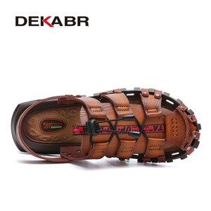 DEKABR Summer Men's Sandals Beach Shoes Summer Leisure Beach Roman Men Outdoor Sandals High Quality Soft Bottom Sandals Slippers