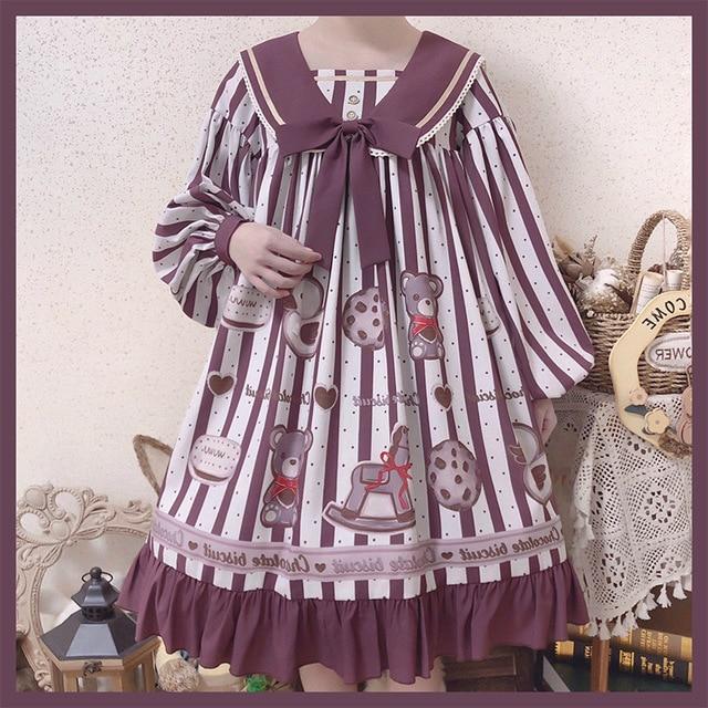 Фото милое платье в стиле «лолита» ретро с матросским воротником