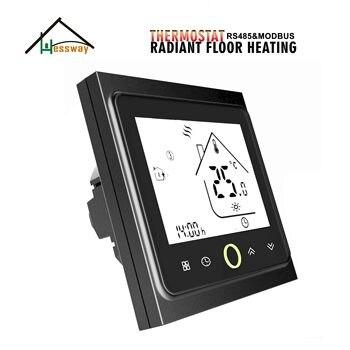 HESSWAY Radiant Floor Heating THERMOSTAT with remote control by RS485&MODBUS пульт ду modbus 64 modbus