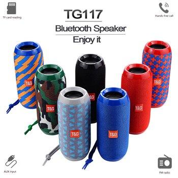 Barra de sonido portátil inalámbrica TG117, columna, resistente al agua, con Bluetooth,...