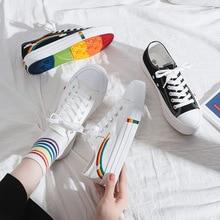 Fairy Rainbow Canvas Shoe Woman Autumn Woman Shoes