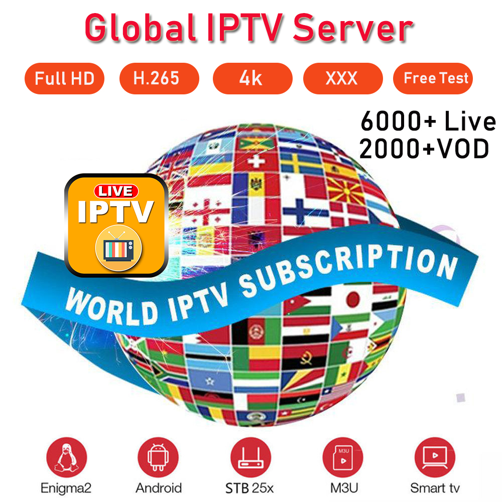 Global Europe IPTV M3U Subsrciption Spain Portugal Netherland Turkish Canada 1 Year IPTV Code France Arabic VOD Xxx Stable Iptv