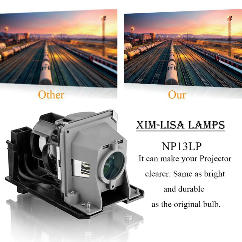 NP13LP NP18LP Projector Lamp With Housing For NEC NP110, NP115, NP210, NP215, NP216, NP-V230X, NP-V260 Projectors