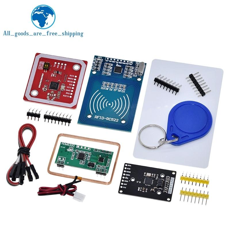 Módulo RFID NFC RC522 MFRC-522 RDM6300 Kits S50 13,56 Mhz 125Khz 6cm con etiquetas SPI escribir y leer para arduino uno 2560