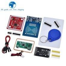 Nfc rfid módulo rc522 MFRC-522 rdm6300 kits s50 13.56 mhz 125khz 6cm com tags spi escrever & ler para arduino uno 2560