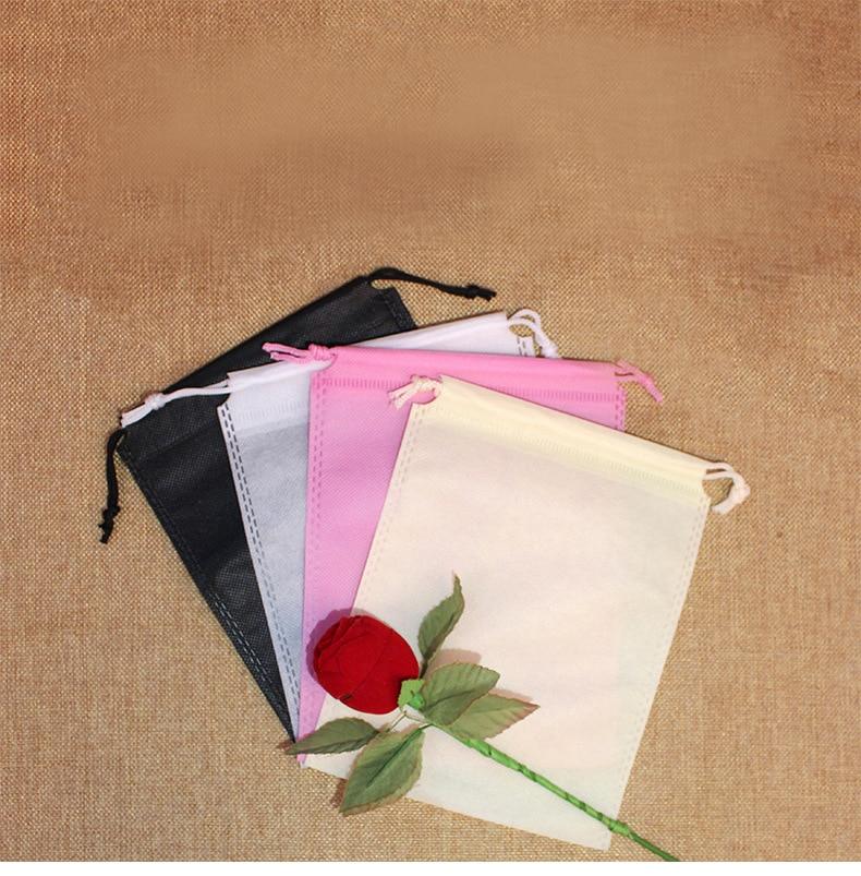 New 50pcs/lot 35x45cm Waterproof Package Shoe Pocket Storage Organize Bag Non-woven Fabric Draw Pocket Drawstring Bags