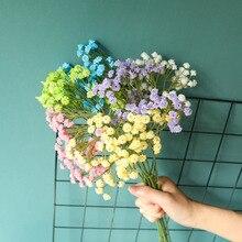 白赤ちゃん息造花プラスチックカスミソウdiyの花ブーケアレンジメント結婚式ホームデコレーション90花ヘッド
