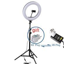 Anillo de luz LED para Selfie, 14 , 36 cm, lámpara de anillo de vídeo de maquillaje con trípode de 160cm para fotografía, Selfie, cámara, Youtube, Shoot Lighting