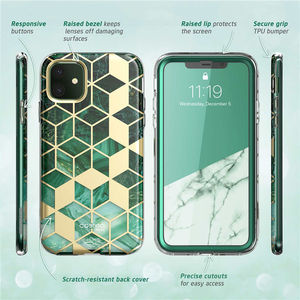 Image 4 - I BLASON For iPhone 11 Case 6.1 inch (2019 Release) Cosmo Full Body Glitter Marble Bumper Cover with Built in Screen Protector