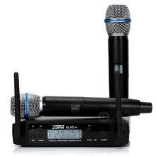 GLXD4 UHF беспроводной микрофон профессиональный BETA87A BETA 87A Ручной беспроводной микрофон системы 600-650 МГц Частота регулируемая