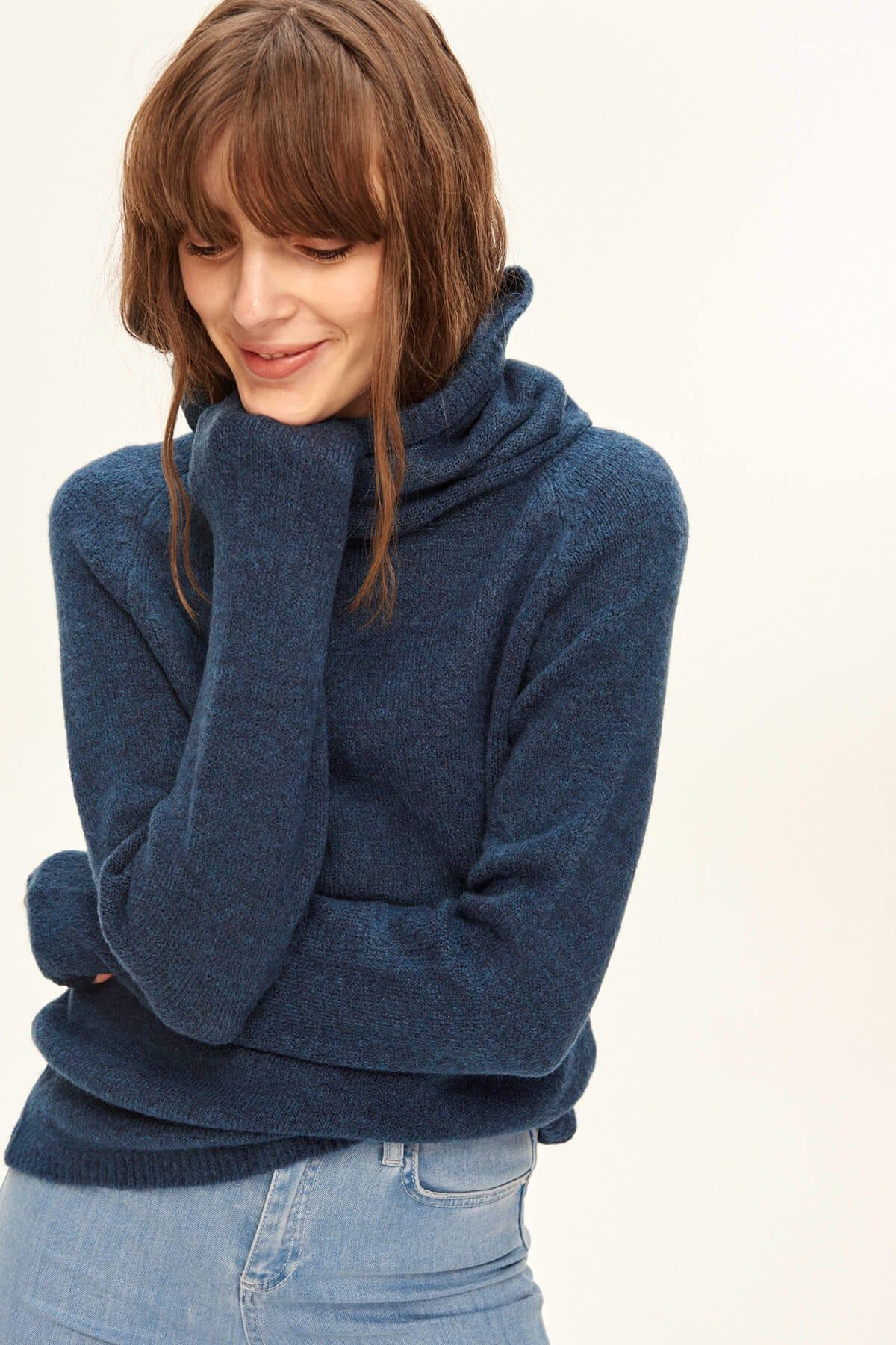 Trendyol WOMEN-Navy Blue Turtleneck Sweater Sweater TWOAW20FV0037