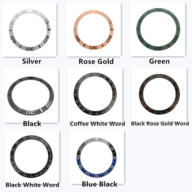 38mm/38.5mm Ceramic Watch Bezel Insert For Mens Watch Face Multiple Styles Watches Replace Accessories Inner Diameter 30.7mm