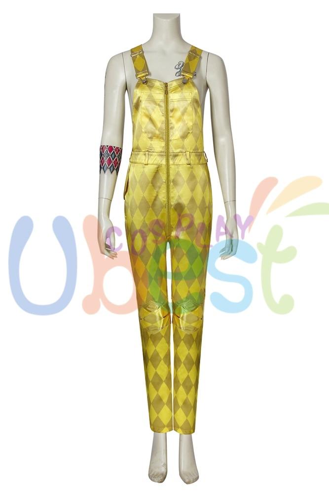 Harley Quinn OISEAUX PROIE Costume Cosplay Rouge Bretelles Suspenders Fancy Dress