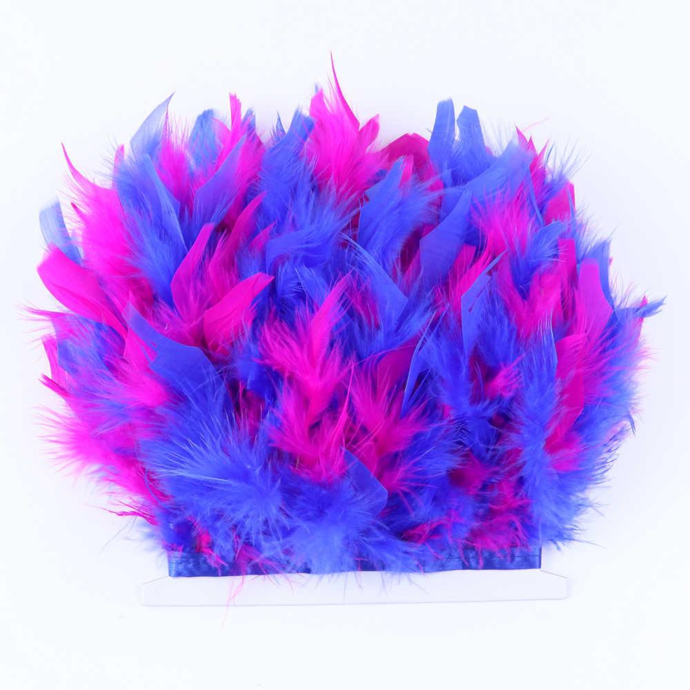 WCFeatherS 1 미터 다채로운 터키 깃털 트림 프린지 공예에 대 한 10-15cm 깃털 바느질 의류 드레스 장식 리본