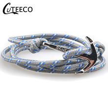 CUTEECO  Nylon Rope Chain & Link Bracelets Popular Jewelry Anchor for Women Men 2019 Hot Sale