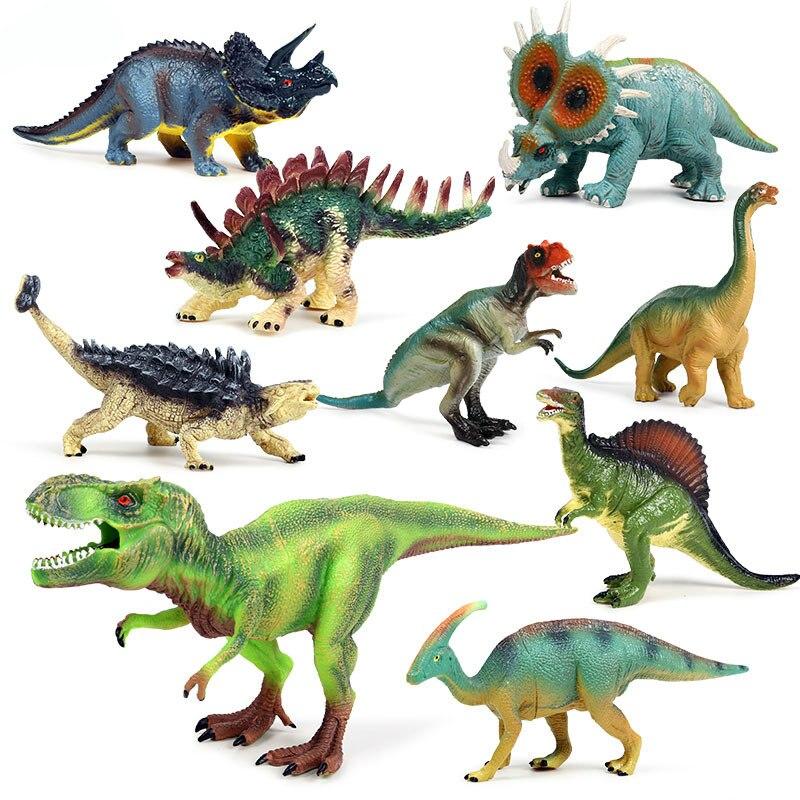 9 pièces/ensemble modèle de dinosaure Brachiosaurus stégosaure tyrannosaure Rex Figures Figurines animales creuses jouets pour enfants garçons cadeau