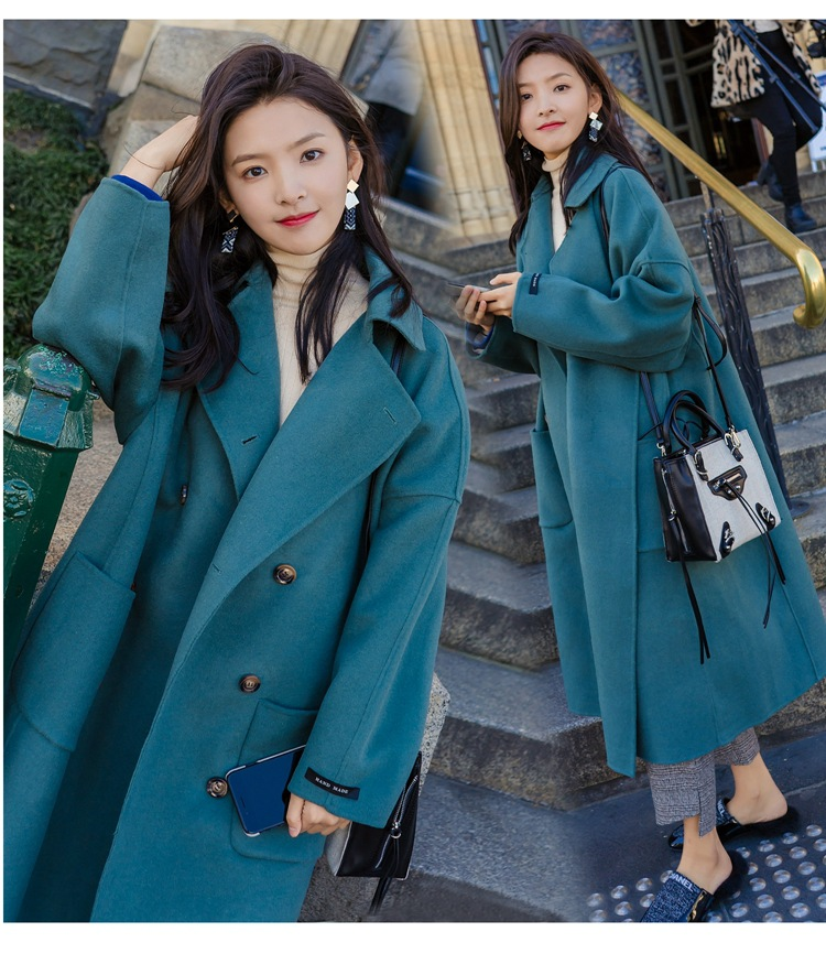 Large Size 2019 Fashion Women Winter Jacket Wool Coat Female Long Paragraph Long Sleeve Coat Thick Woolen Blends Outwear 10