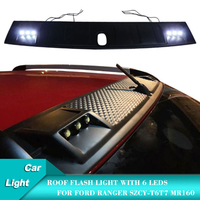 Car Roof Lights For Ford Ranger Flash Light without remote control 6 Leds SZCY T6 T7 MR160 Auto Accessories Wildtrack Style