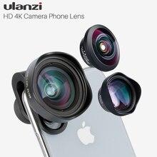 Ulanzi HD 4Kกล้องเลนส์โทรศัพท์ 2X Telephoto 100 มุมกว้างCPL 238 เลนส์FisheyeสำหรับIphone 7/8 X HUAWEI P20 PRO Xiaomi