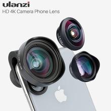 Ulanzi hd 4k lente do telefone da câmera 2x telefoto 100 grande angular com cpl 238 lente olho de peixe para iphone 7/8 x huawei p20 pro xiaomi