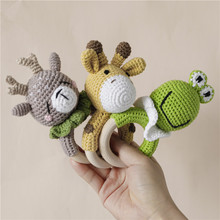 Baby Toy Hand-Bell Giraffe-Style Grasping-Toy Educational Newborn 0-24-Months 1pc Frog