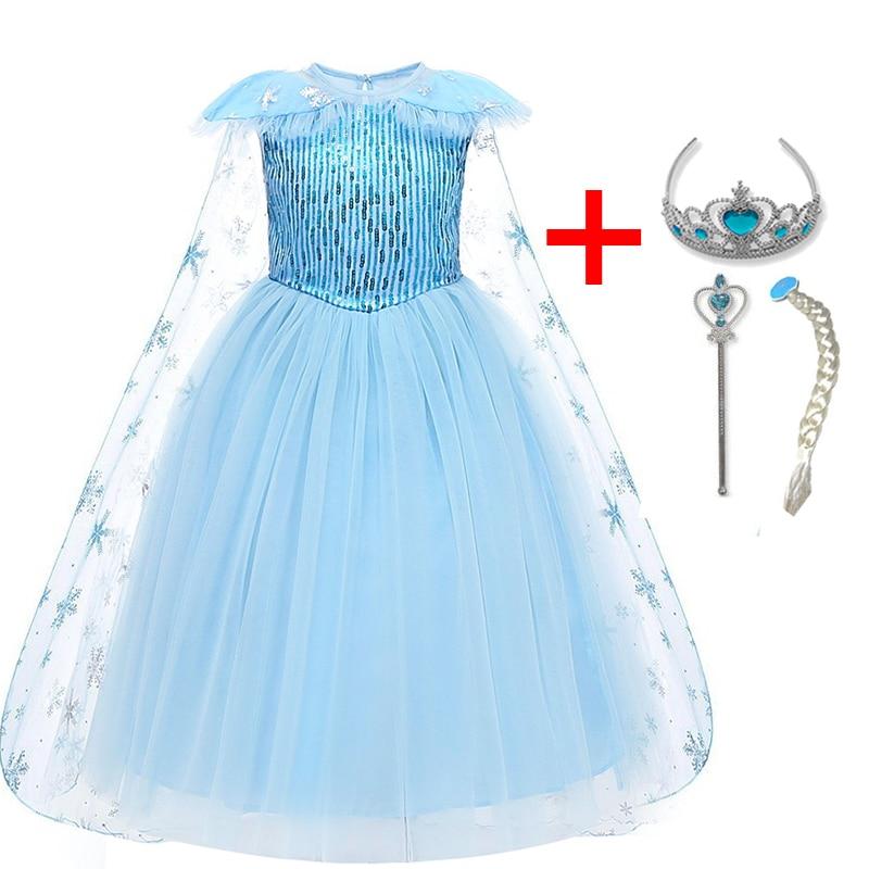 Children Girls Dress Christmas Costume Winter Clothes Kids Princess Dresses For Girl Dress Birthday Party Wear 4