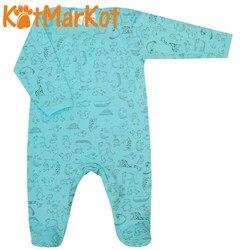 Комбинезон для малыша, Котмаркот Мятные джунгли, хлопок, 6050201
