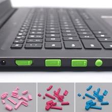 16pcs/set Silicone Anti Dust Plug Laptop Dustproof Protetive Cover Universal USB HDMI Network Port VGA Plug Computer Accessories