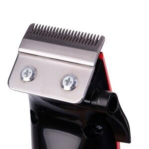 Image 5 - Kemei KM 4801 şarj edilebilir saç kesme erkek profesyonel elektrikli saç makasları saç düzeltici saç kesme makinesi sakal berber