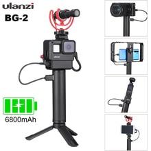 ULANZI BG 2 güç el kavrama alüminyum 6800mAh pil kolu GoPro Smartphone Osmo cep 1/4 vida deliği