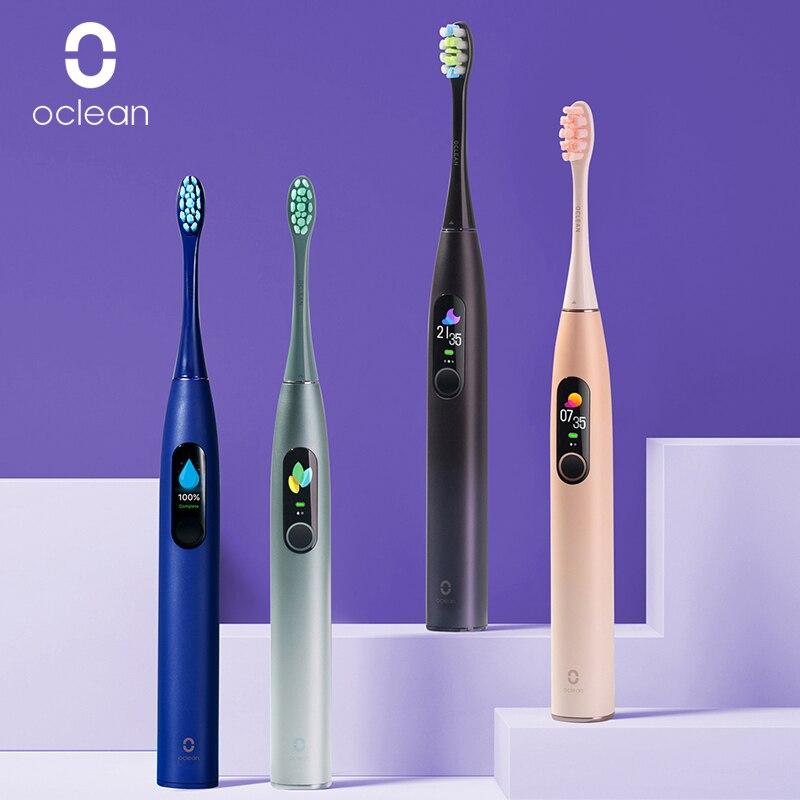 Neue Oclean X Pro Sonic Elektrische Zahnbürste mit Touchscreen IPX7 Wasserdicht 3 Bürsten Modi Zahnbürste Für Erwachsene Schnelle Lade
