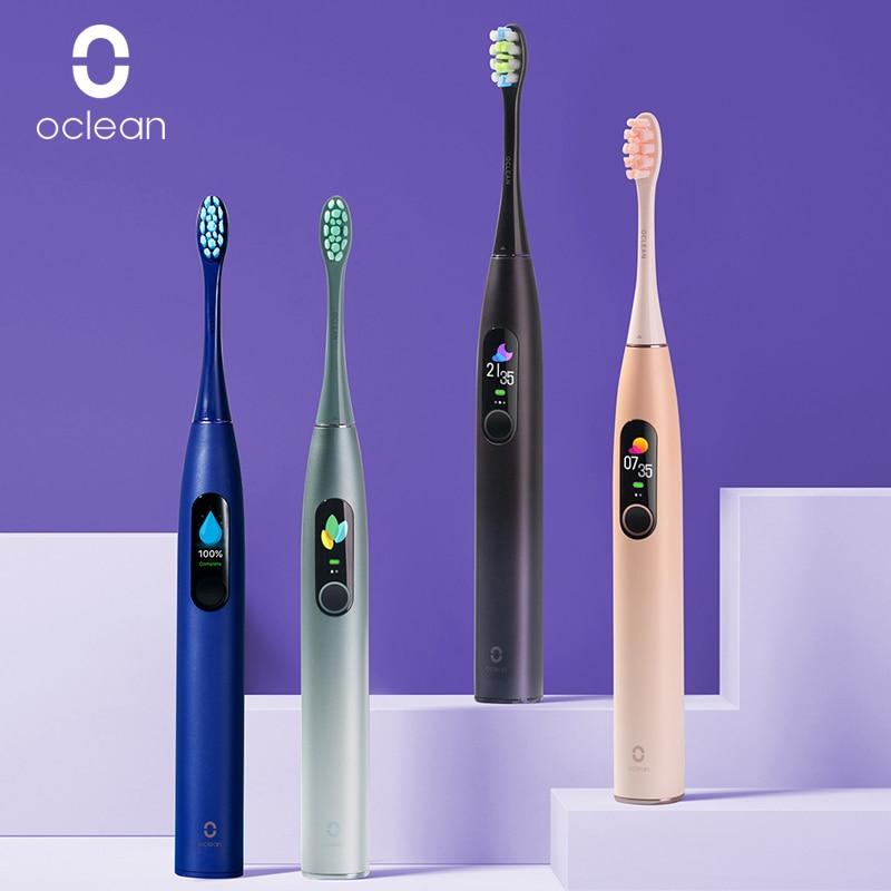 Nouvelle brosse à dents électrique Oclean X Pro Sonic avec écran tactile IPX7 étanche 3 Modes de brossage brosse à dents pour adulte charge rapide