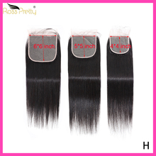 Ross Pretty Hair Natural Black Color 5x5 4x4 6x6 Straight Lace Closure 8-22 Inch Remy Human Hair  With Baby Hair Lace Closure ross pretty remy hair kim k closure 2 6 brazilian straight hair lace closure human hair pre plucked with baby hair