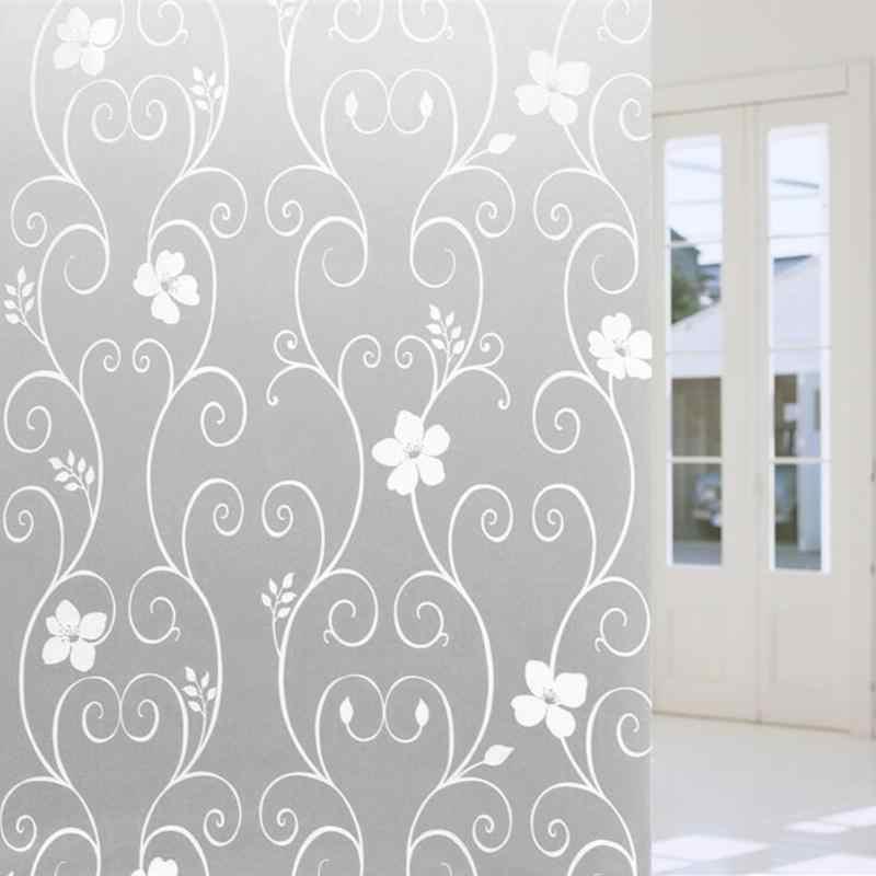 45x100 cm/17.7x39.4in Opaco Satinato Vetro Window Film Privacy Famiglia Creativa Autoadesivo di Vetro Della Decorazione