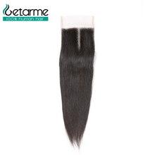 """Getarme бразильские прямые человеческие искусственный парик """" x 4"""" швейцарская шнуровка не Реми волосы для наращивания 8-20 дюймов натуральный цвет 1 шт"""