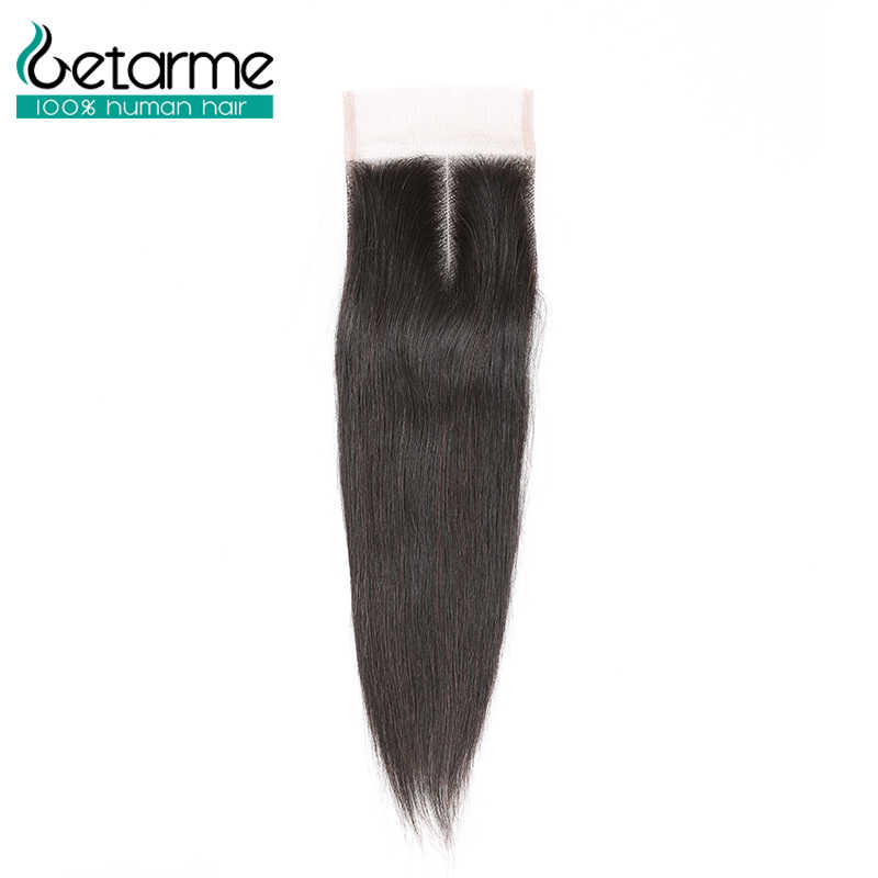"Getarme Brazilian Straight Human Hair Hand Tied 4""x4"" Swiss Lace Closure Non Remy Hair Extensions 8-20inch Natural Color 1PCS"