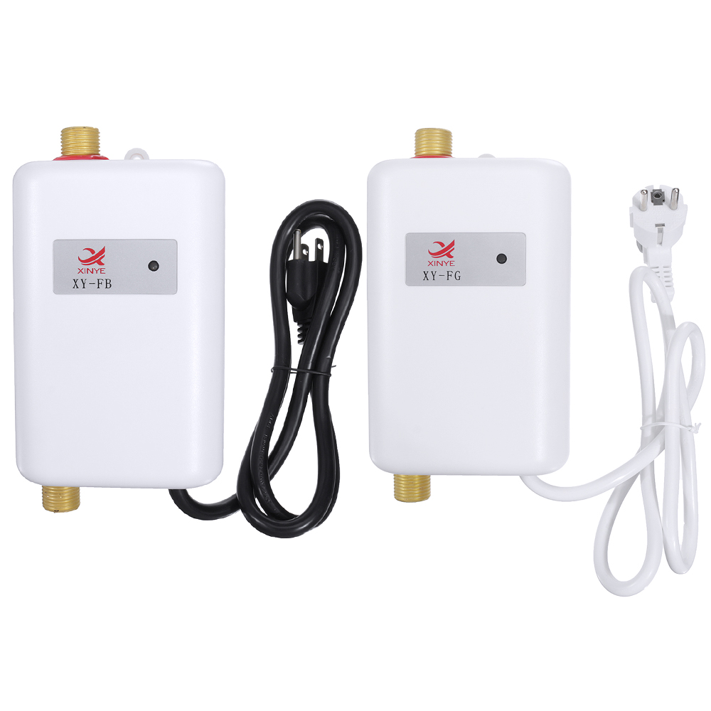 3000W Electric Water Heaters Instantaneous Instant Tankless Kitchen Water Heaters Faucet Temp Display Heating Shower Universally