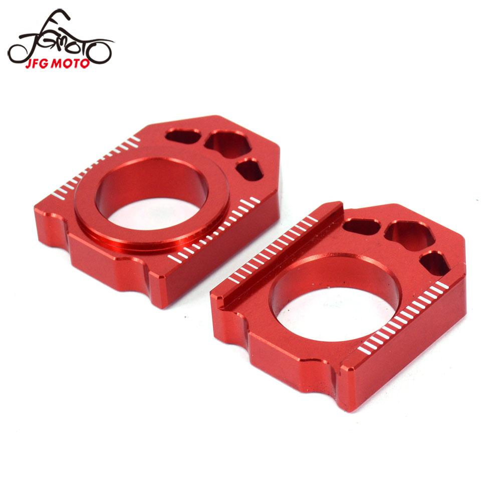 Motorcycle CNC Rear Chain Adjuster Axle Block For HONDA CR125R CR250R CRF250R CRF250X CRF450R CRF450X CRF450RX CRF 250R 250X