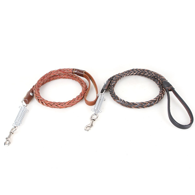 Pet Traction Rope Dog Traction Belt Medium Large Dog Hide Substance Explosion-Proof Dog Collar Hand Holding Rope