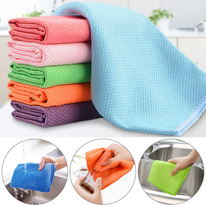 Soft Microfiber Cleaning Towel Absorbable Glass Kitchen Cleaning Cloth Wipes Table Window Car Dish Towel Rag Household