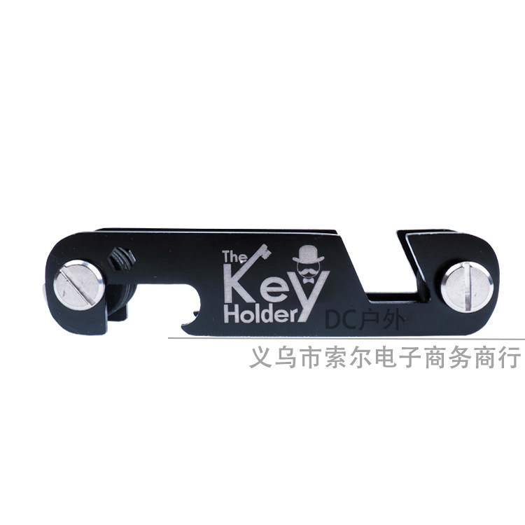 Outdoor Portable Key Holder Storage Clip EDC Multi-functional Stainless Steel Thick Bottle Opener Key Ring