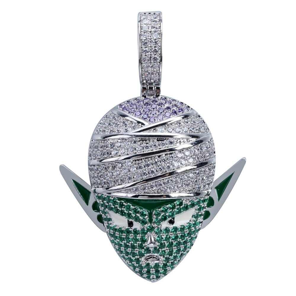 Pria Klasik Dragon Ball Gaya Liontin Kalung dengan Tenis Rantai Emas Warna Perak Pria Hip-Hop Kalung Perhiasan untuk anak Hadiah